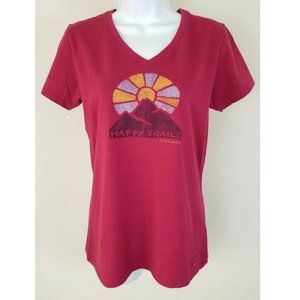 Crusher Tee V-Neck Happy Trails Graphic T-Shirt